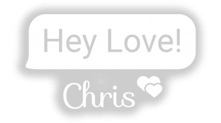 Hey Love Chris - Logo Overlay